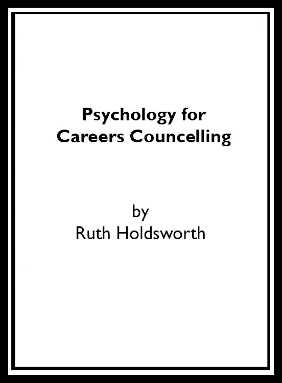 Psychology For Careers Councelling