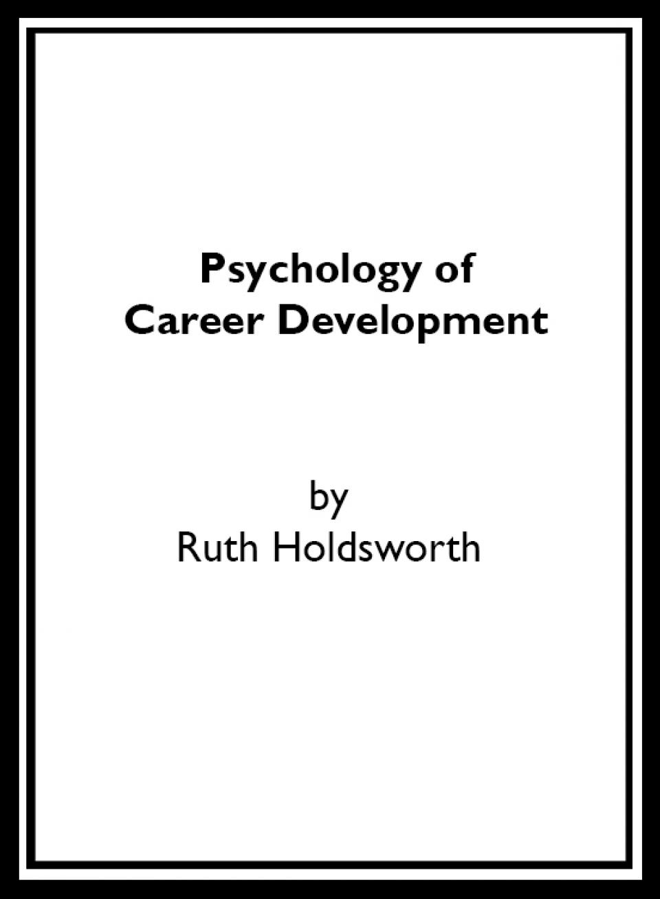 Psychology of Career Development