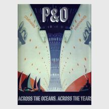 P&O Across The Oceans by Ruth Artmonsky and John Preston