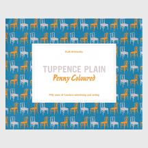 Tuppence Plain Penny Coloured