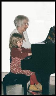 Ruth Artmonsky with her granddaughter Sally Harpley